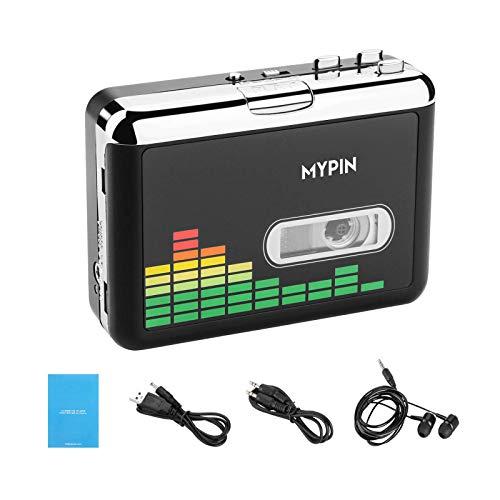 MYPIN Convertitore da Cassette a MP3 tramite unità USB, convertitore di cassette digitale Audio Music Tape Convertitore da MP3 a Lettore Con Auricolare, Nessun Computer Necessario