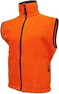 WORLD FAMOUS Blaze Orange Fleece Vest, XL