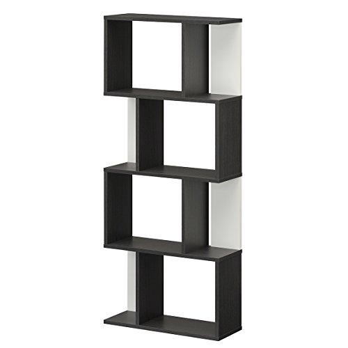 【Amazon.co.jp限定】白井産業 ディスプレイラック 約 幅60 奥行24 高さ143 cm 本 棚 bookshelf ブラック (KI2-1460 BO キアエッセ2)