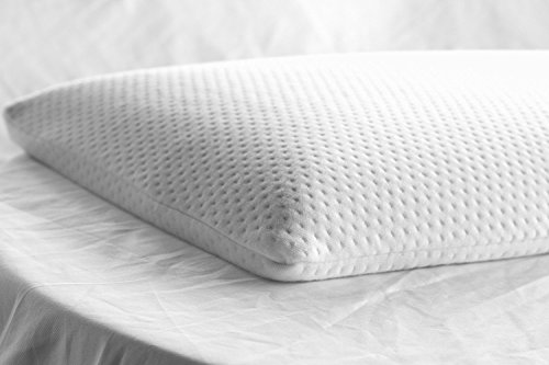 Elite Rest Ultra Slim Sleeper - Firm Memory Foam Pillow, Premium Cotton Cover, Great for Back...