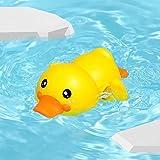 QQW Juguete de Baño de Bebé, Jaleo Lindo Pato de Bañera Flotante Animal Flotando Enrojeción de la Piscina de Los Juguetes de Agua Linda Conjuntos de Juegos para Niños para Niños Niñas de Agua Infanti