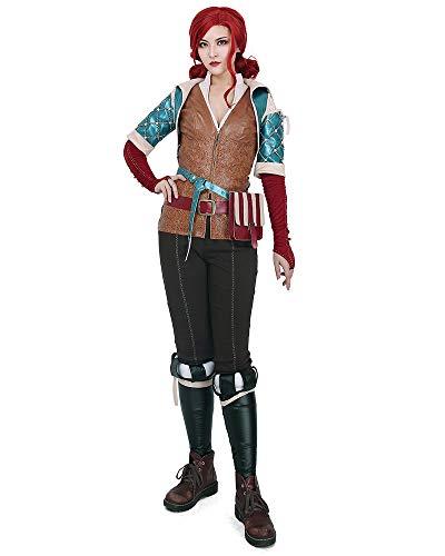 miccostumes Damen Triss Merigold Cosplay Kostüm Outfit -  mehrfarbig -  Large
