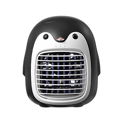 ER827QI HAOSHAN. Ventola a spruzzo a Freddo Anion Anion Fan USB Piccolo Fan del condizionatore d'Aria di Ricarica (Color : Black)