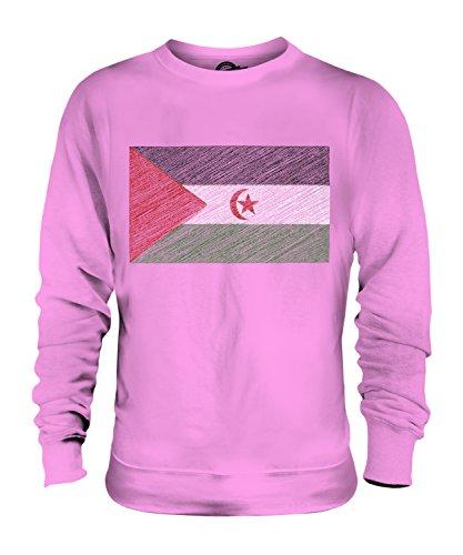Candymix Sahara Occidental Bandera Scarabocchio Unisex Hombre Mujer Sudadera