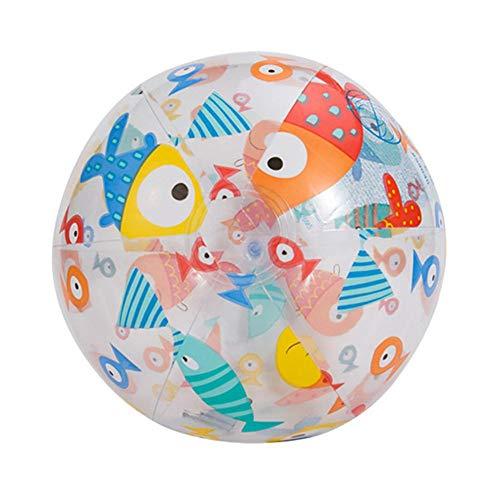 advancethy 2 STÜCKE Aufblasbarer Wasserball, Kinder Aufblasbare Wasserball Outdoor Schwimmen Spielzeug PVC Aufblasbare Strand Elastische Schwimmerkugel Eltern Kind Interaktive Aufblasbare Wasserball