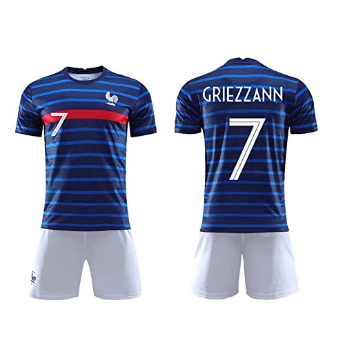 T-Football Uniform kann wiederholt gereinigt Werden Trainingsanzug 19-20 Frankreich Nr. 10 Menfootball Uniform Frankreich Nr. 7 T-Shirt Trikot-GRIEZMANN-24