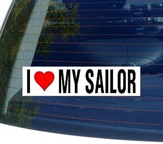 I Love Heart My Sailor Window Bumper Sticker
