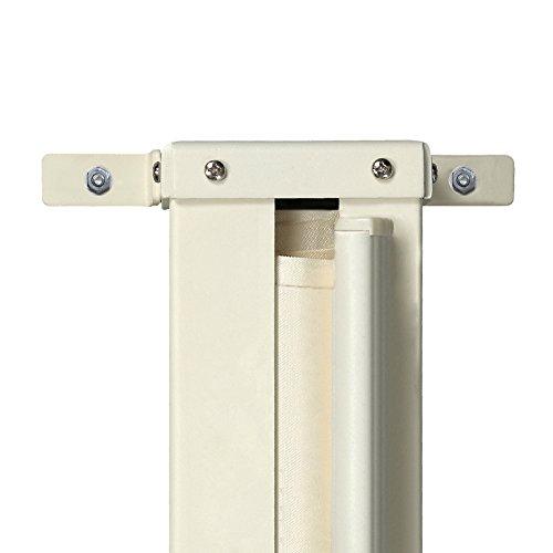 CCLIFE Paravent Extérieur Rétractable - Auvent Store Latéral Enroulable- Store latéral pour Balcon - Choix de Couleur et Taille, Couleur:Beige, Size:160x300cm