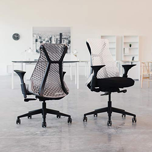 Bowery Fully Adjustable Management Office Chair (Black/Black)