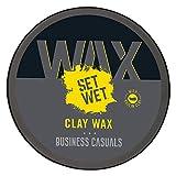 Set Wet Clay Wax Ultra Matte Finish & Zero Shine Look With Kaolin Clay, No Sulphate, No Alcohol, No...