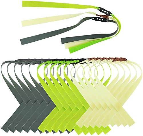 Bignc 15 Pack Powerful Slingshot Flat Latex Band Flat Rubber Band Slingshot Replacement 1mm product image