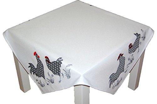 Tafelkleden Pasen wit kraan kip grijs geborduurd polyester paasdeken keuken