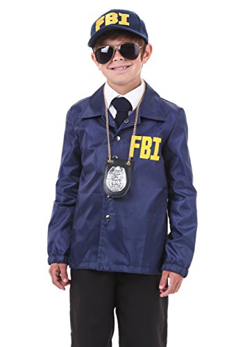 FBI Costume for Kids Child FBI Outfit X-Large