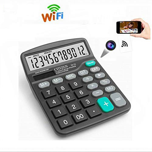 Calculator WiFi Camera, HD Hidden Camera Wireless Video Camera, Video Recorder Support Motion Detection