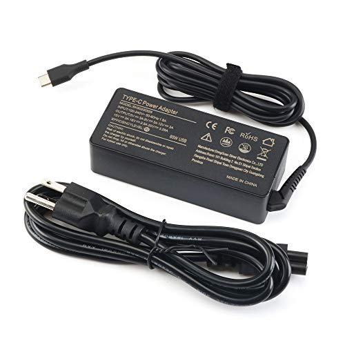 65W USB-C AC Laptop Charger for Lenovo Chromebook 100e 300e C330 ;ThinkPad T470 T470s T480 T480s T570 T580s ;Yoga 910 920 720 730 C740 C930 C940 S730 Type C Power Supply Cord