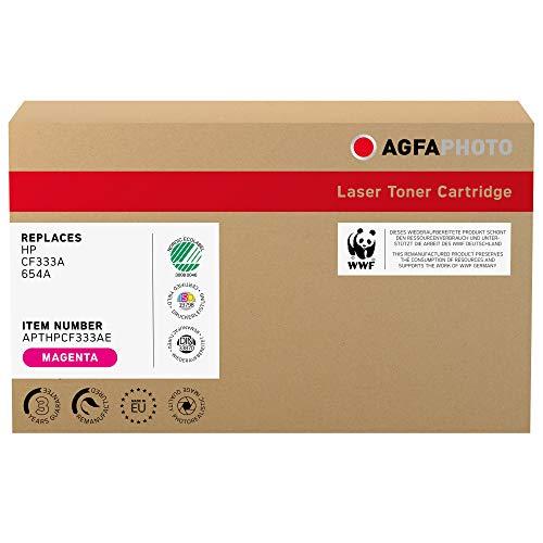AgfaPhoto Laser Toner ersetzt HP CF333A; 654A, 15000 Seiten, Magenta-rot (für die Nutzung in HP CLJ Enterprise M651)