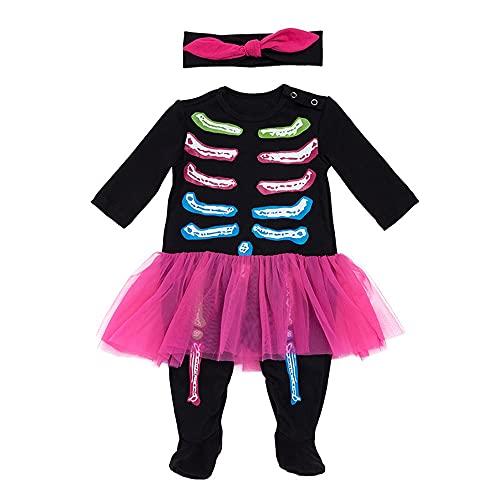 TMOYJPX Disfraces Niña Halloween Disfraz Mono Niño 0-24 Meses Navidad Invierno, Conjunto...