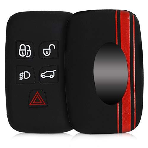kwmobile Funda Compatible con Land Rover Jaguar Llave de Coche con Control Remoto de 5 Botones - Car