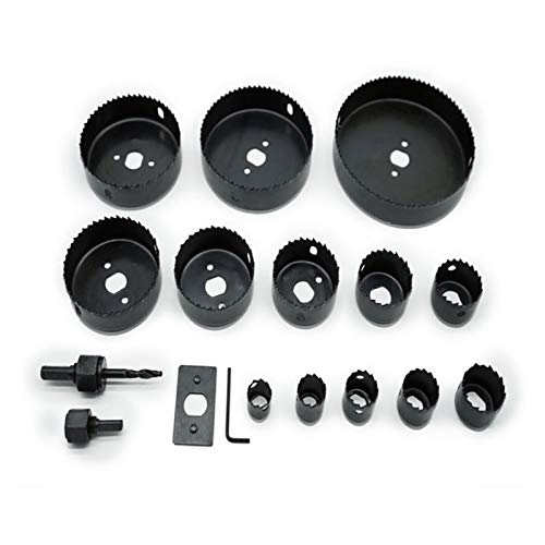 X-BAOFU, 1set Tools For Carpentry Parts Set Of Drills For Metal Kit DIY Hole Opener 5/8/13 Pcs Drill Bit 19-127 Hole Saw Cutting (Color : Black 13 Pcs Set)