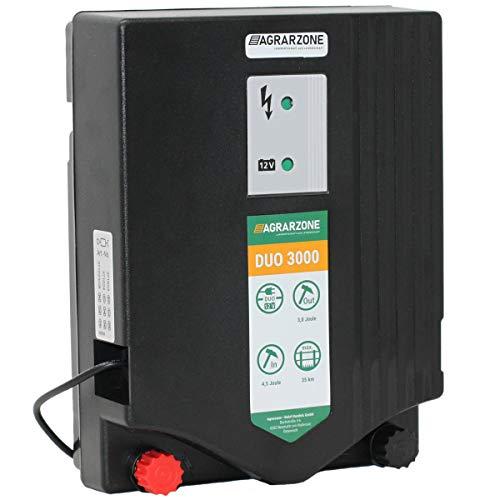 Agrarzone Elettrificatore per recinzione elettrica DUO 3000 12V, 230V, 4,5 Joule   Elettrificatore...