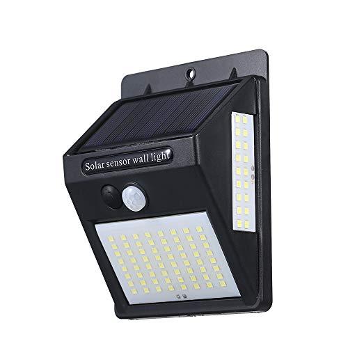Lixada センサーライ ソーラーライト DC5.5V 30W 146LED 3面発光 人感センサー 自動点灯/消灯 1800mAh電池 8時間以上超長照明 取り付け簡単 防犯 ガーデンライト 屋外 庭 玄関