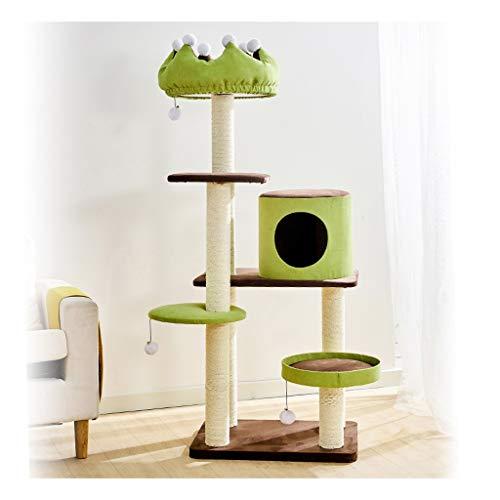 Torre de gato árbol de gato Árboles de actividades para gatos con arena for gatos Juguete del gato sisal con la jerarquía del gato y el columpio de salto de plataforma de varios niveles del gato Torre