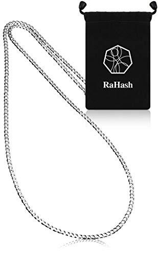 [RaHash] ネックレス チェーン メンズ 喜平 シルバー 925 ブランド [ 銀 6面カット 幅2mm ] [ 50cm ]