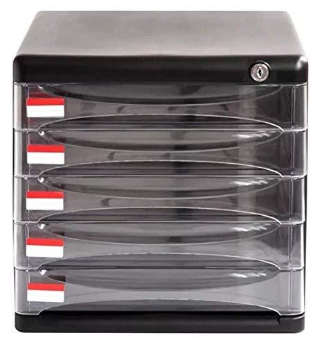 Armario de almacenamiento, armario de almacenamiento de archivos Armario de archivo de escritorio vertical Armario de almacenamiento de 5 capas Gabinete de almacenamiento de escritorio de oficina Caj