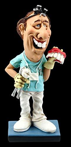 Warren Stratford Funny Job Karikatur Figur - Zahnarzt mit Gebiss | Witzige Dekofigur, Statue, Skulptur, Motiv, Sammelfigur, H 17 cm