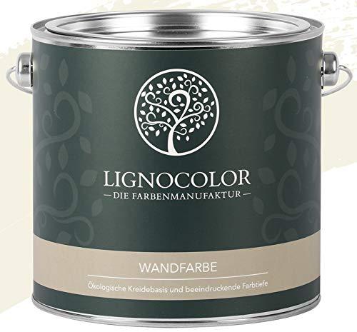 Lignocolor Wandfarbe Innenfarbe Deckenfarbe edelmatt 2,5 L (Almond)