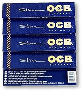 OCB ULTIMATE KING SIZE SLIM ULTRA THIN Rolling Papers タバコの紙喫煙紙巻紙 から5小冊子のパック SUDESH ENTERPRISES