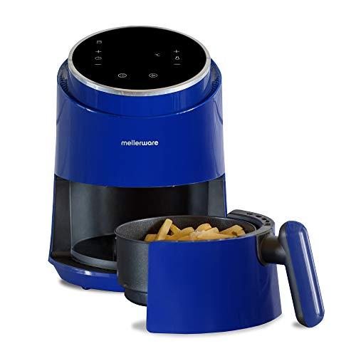 Mellerware - Freidora sin Aceite Crunchy! 1230W | 7 Programas Predefinidos | Temporizador Programable | Air Fryer 80-200 Grados | Diseño Compacto| 1,4L | Sin BPA/PFOA | Freidora de Aire | (Blue)