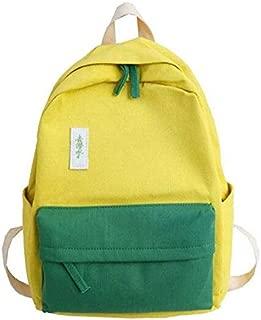 Yuanzengjunfva Bag Female Spring Festival New Shoulder Bag Female Fashion Simple Wild Travel Canvas Backpack (Color : Yellow)