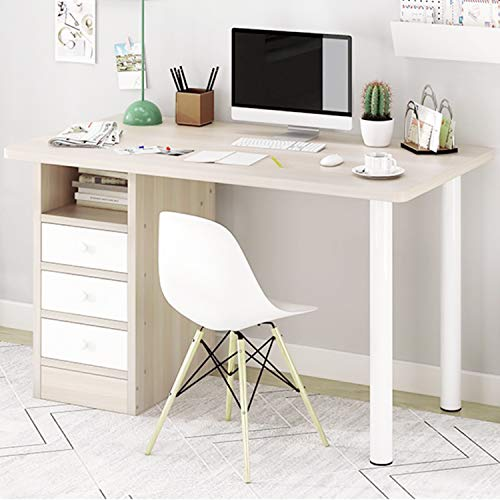hmercy Computer Desk with 3 Drawers - Home Office Desk 39'' Simple Writing Study Table with Storage Cabinet Modern Small Study Desk with Space Saving Design for Work Study and Makeup