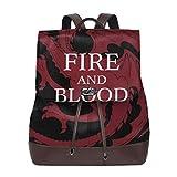 Fire And Blood ターガリエン家 House Targaryen 軽量 りょこう 人気 背嚢 新しい 学生ランドセル ゲーム アニメ 同人周辺 調節可能 かばん 青少年 成人 男性女性 黒い