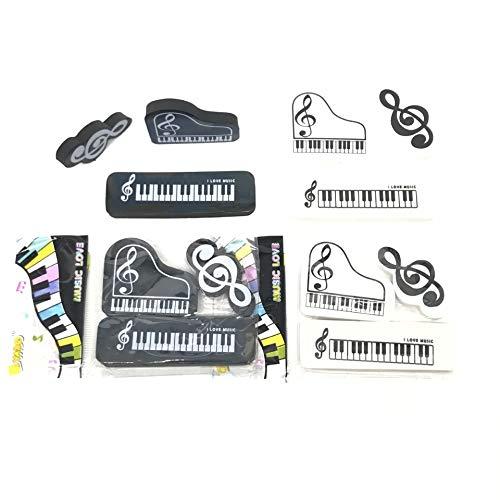 【A-Flat】音楽消しゴム ピアノと音符【24個入り】