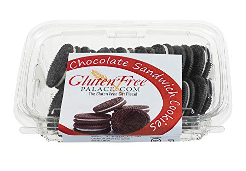 Gluten Free Chocolate Sandwich Cookies, 6 Ounce [2 Count], Kosher, Dairy Free, Nut Free Chocolate Sandwich Cookies by Gluten Free Palace