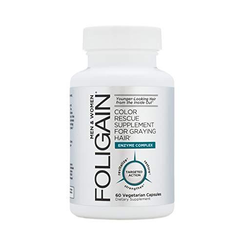 FOLIGAIN - Supplemento per il salvataggio del colore per capelli ingrigiti - 60 capsule