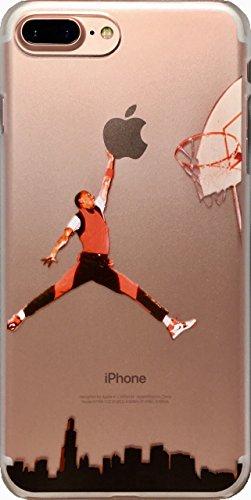 ECHC Schutzhülle für iPhone (weiches TPU, Basketball-Design), iPhone 7 Plus, Jordan City Dunk