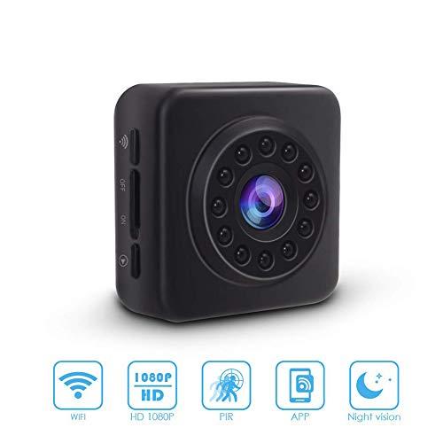 1080P draadloze HD IP-camera, nachtzicht bewegingsdetectie alarm twee-weg audio WiFi afstandsbediening bewakingscamera geschikt voor gezinnen 1080P Zwart