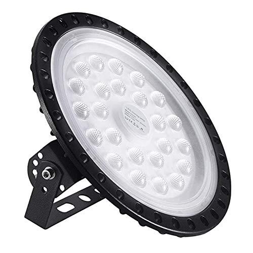 Sararoom 100w Lampada UFO LED Illuminazione da Industriale Faretto 6000K 15000LM Bianco freddo Per Illuminazione commerciale per interni(1pcs)