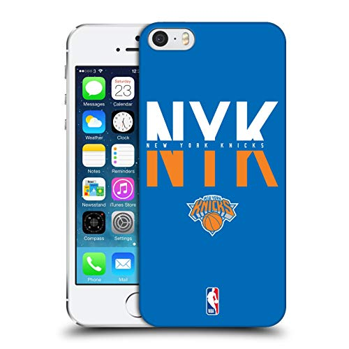 Official NBA Typography 2019/20 New York Knicks Hard Back Case Compatible for Apple iPhone 5 / iPhone 5s / iPhone SE 2016