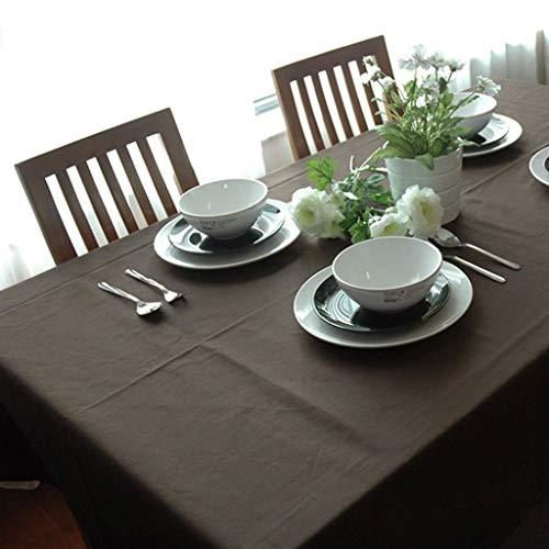 JXXDQ Couverture de table de restaurant de maison de nappe brune épaisse imprimée par coton de nappe rectangulaire (Size : 145 * 220cm)