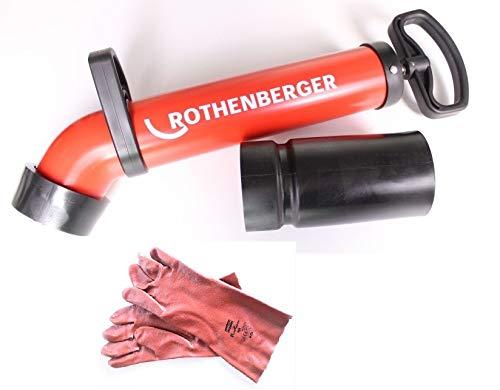 ROTHENBERGER Ropump Super Plus 072070X Druckreiniger Rohrreiniger + 1 Paar NORTH Schutzhandschuh XL Gummihandschuh Handschuh