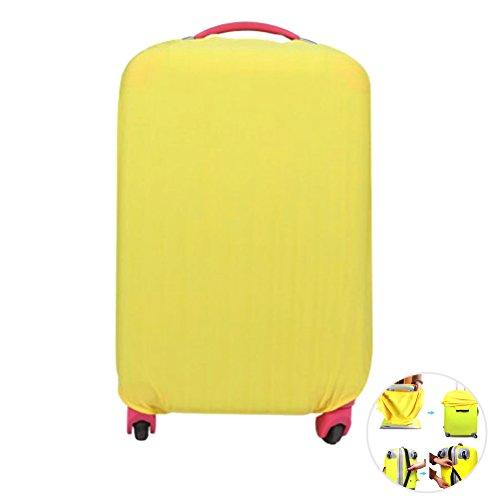 WINOMO Capa de viagem lavável para mala de viagem com rodinhas e bolsa protetora à prova de poeira para 45 a 50 cm (amarelo)