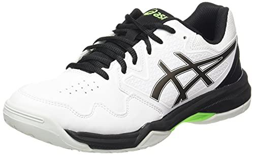 ASICS Men's Gel-Dedicate 7 Tennis Shoe, White/Gunmetal, 10 UK