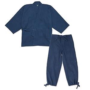 wasuian Men's Samue Work Clothes Indigo Dyed Stitched