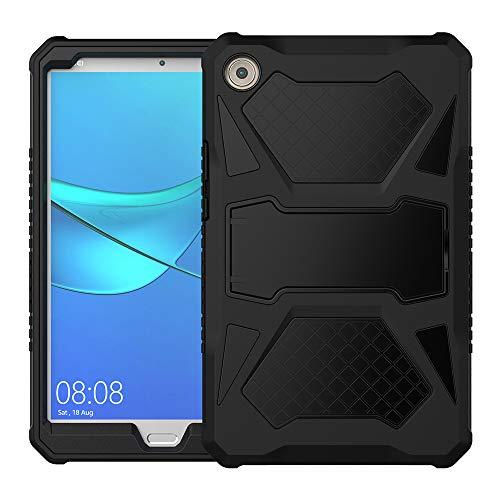Foluu Kompatibel mit Huawei MediaPad M5 8.4 Hülle, Heavy Duty Ultra Hybrid Silikon + Hard PC Bumper Full Body Protective Stoßproof Cover mit Kickstand für Huawei M5 8 8.4 Zoll 2018
