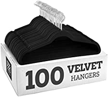 ZOBER Non-Slip Velvet Hangers - Suit Hangers Ultra Thin Space Saving 360 Degree Swivel Hook Strong and Durable Clothes...