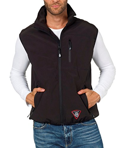 Fifty Five Softshellweste Herren Schwarz 2XS Sheerbroke Windbreaker Winddicht